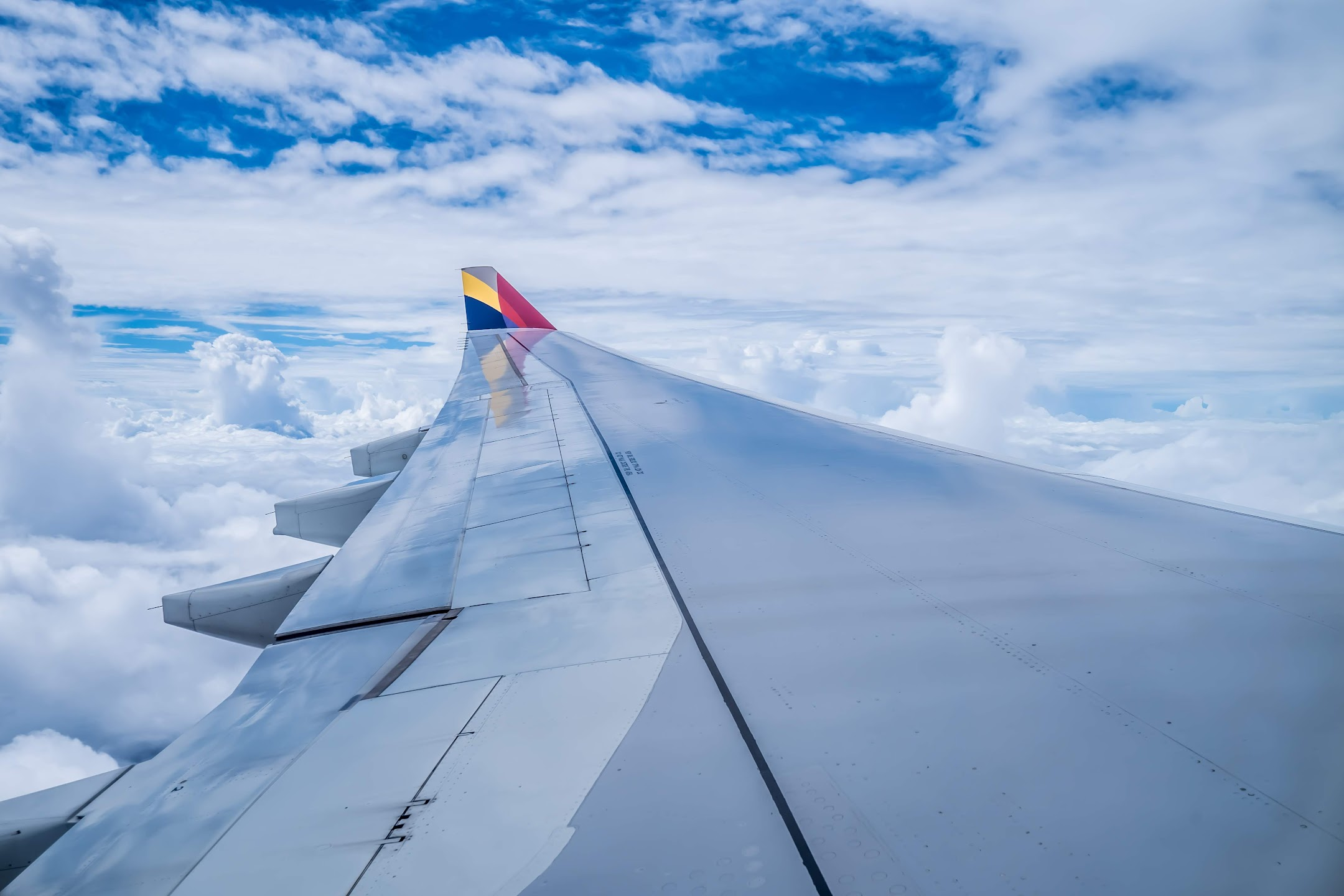 Asiana Airlines window view