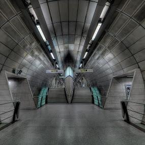 Star Trek by Roland Shanidze - Buildings & Architecture Architectural Detail ( subway, roland shainidze, futuristic, uk< england, hdr< london, lines, symmetry, underground )