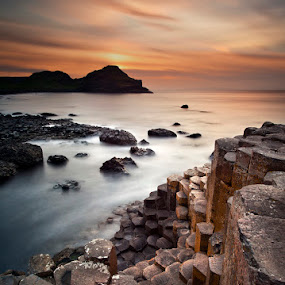 The Giants Causeway by Gary McParland - Landscapes Waterscapes ( water, ireland, sunset, sea, antrim, giants causeway, coast )