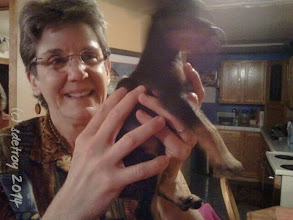 Photo: Grateful for Kiva sharing her new pup...