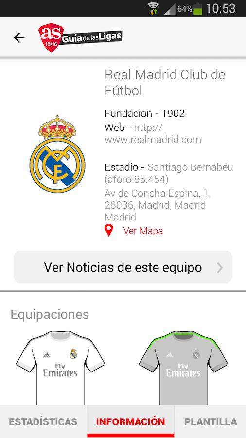 AS Guía de las Ligas 2015-2016- screenshot