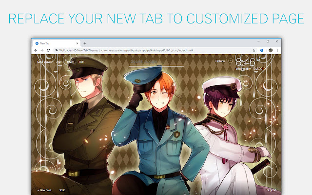 Hetalia Wallpaper Anime New Tab freeaddon.com