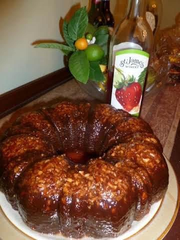 Strawberry Wine Cake