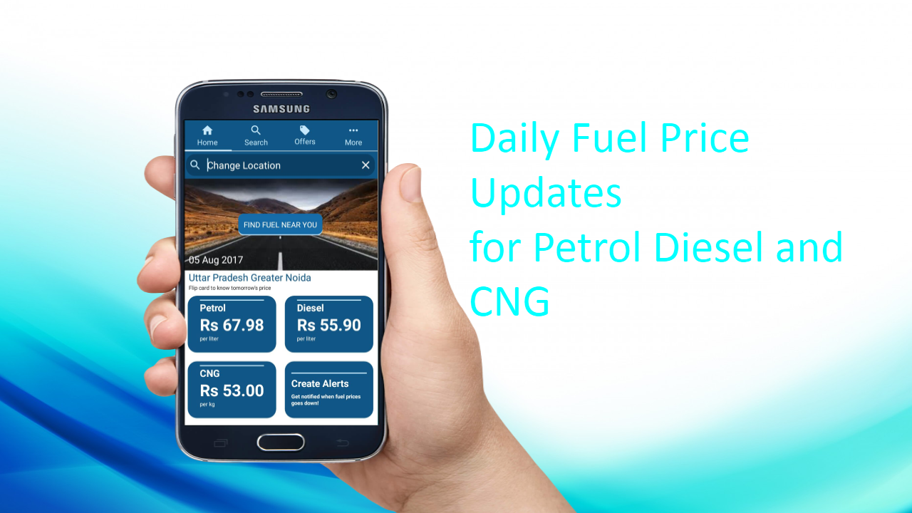 Fuelit -  Daily Petrol Diesel CNG prices India- screenshot