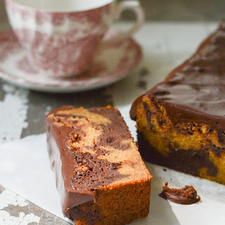 Paleo Pumpkin Banana Chocolate Swirl Cake