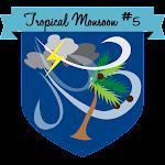 Button Tropical Monsoon #5