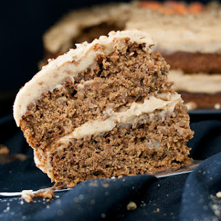 Peanut Butter Vegan Gluten Free Carrot Cake with Whipped Frosting