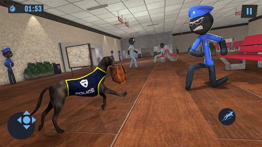 Stickman Police Dog Chase Crime Simulator screenshots 3