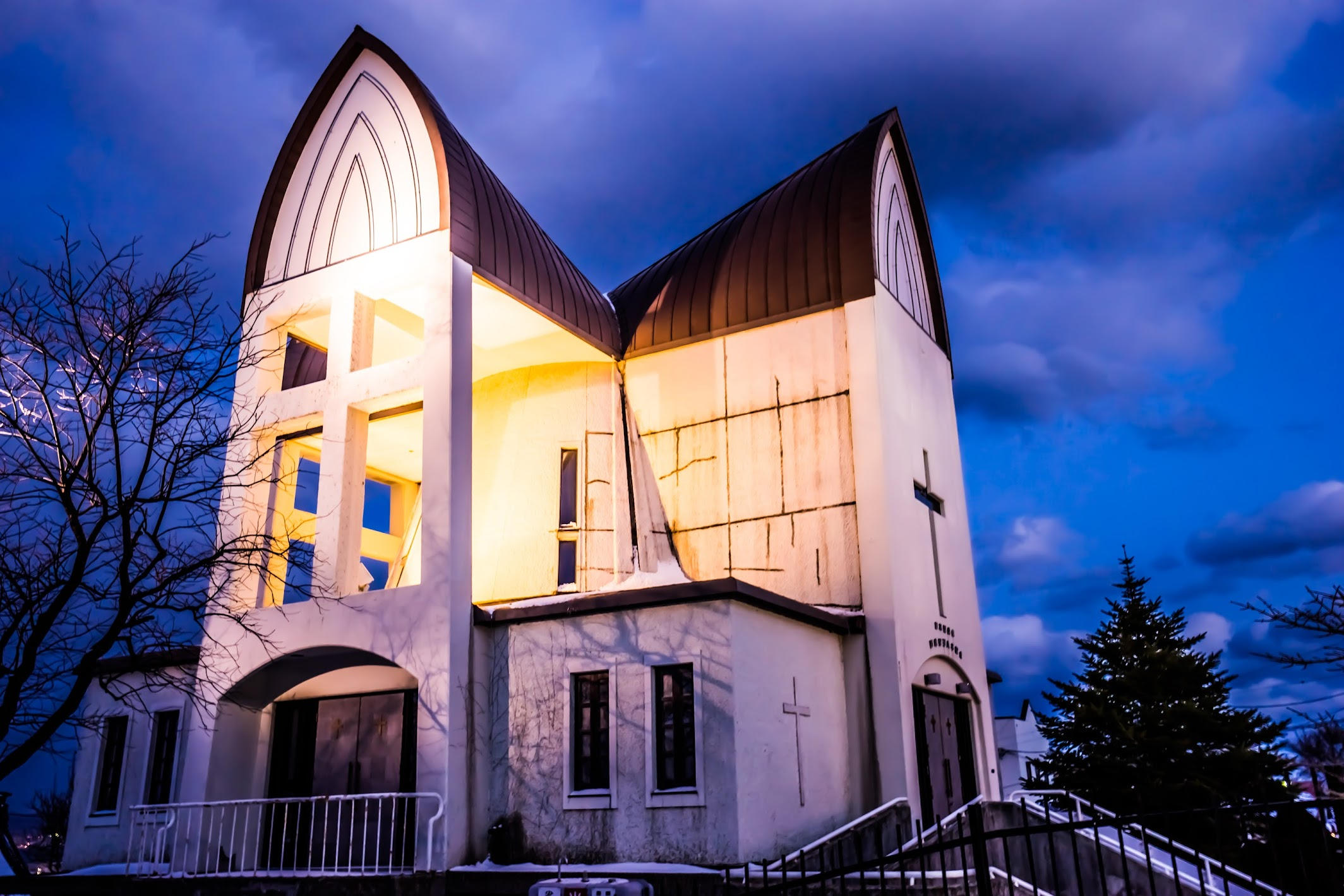 Hakodate St. John's Church evening view