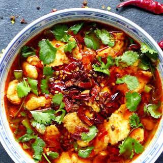 Sichuan boiled fish (Shui Zhu Yu, 水煮鱼).