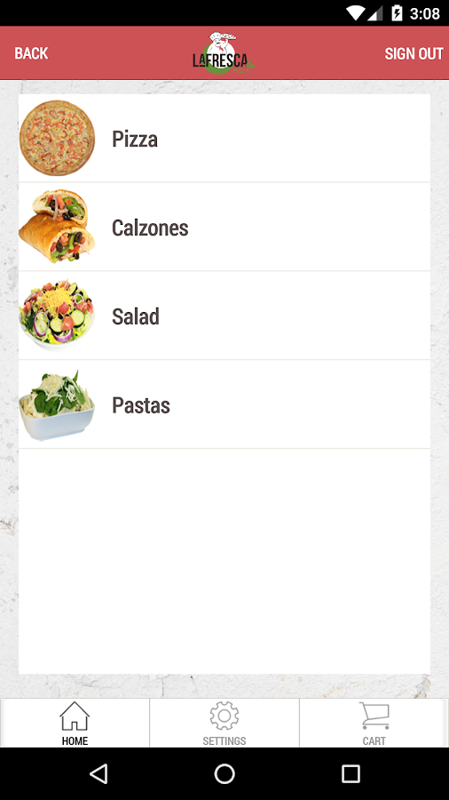 La Fresca Pizza- screenshot