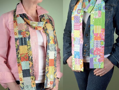 Two Patchwork Scarves