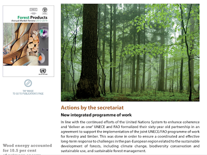 UNECE Annual Report 2014- screenshot thumbnail
