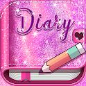 Pink Glitter Secret Diary icon