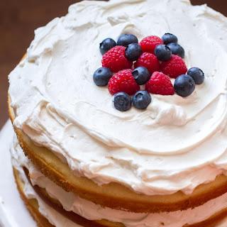 Lemon Blueberry Raspberry Naked Cake