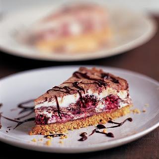 Raspberry and Milk Chocolate Cheesecake.
