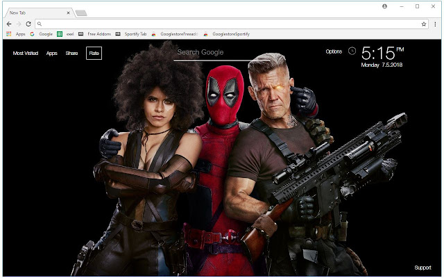 Deadpool 2 HD Wallpaper Marvel New Tab Themes