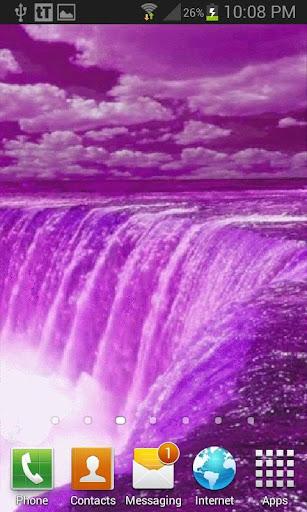 Purple Fall Live Wallpaper