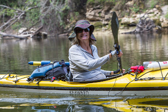 Photo: paddling on the Withlacoochee