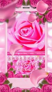 [Download Pink Rose Keyboard Theme for PC] Screenshot 2