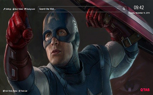 Captain America Wallpaper for New Tab