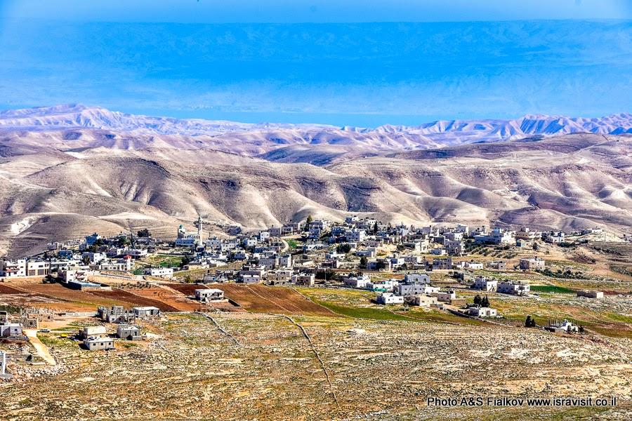 Пейзаж Иудеи и Мертвого моря.