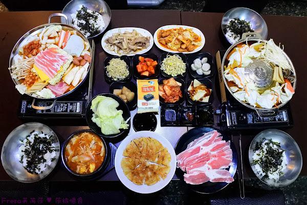韓善宮:經典韓食部隊鍋+銅盤烤肉.韓式豆腐鍋料多好好吃【台南中西區美食】