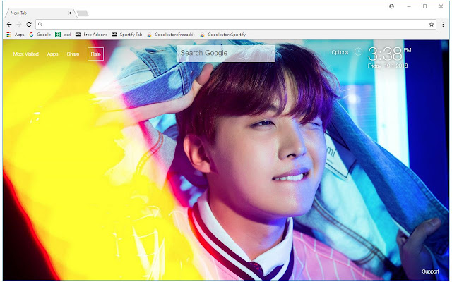 BTS Bangtan Boys J-Hope Wallpaper New Tab