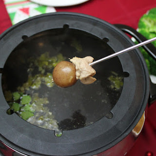 Pork Fondue in Lemongrass Broth