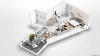 Appartement 2 pièces 38,61 m2