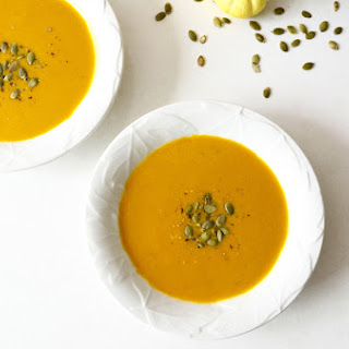 Coconut Curry Pumpkin Soup.