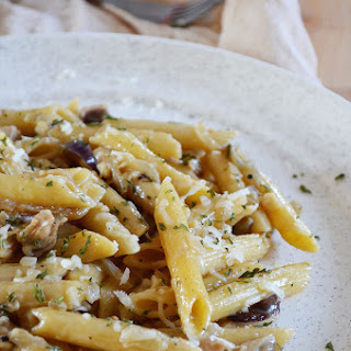 Madeira Chicken and Shiitake Mushroom Penne