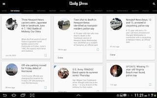 Screenshot of Daily Press