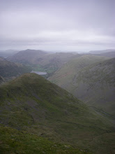Photo: Looking north off the top of Red Screes to Brotherswater. It still had not rained by this point!