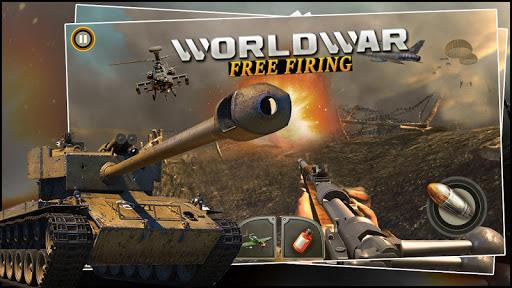 World War ww2 Firing battlegrounds: Free Gun Games android2mod screenshots 2
