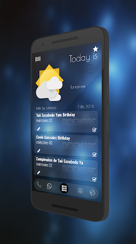 android Curval Wave for KLWP Screenshot 4