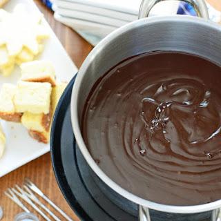 Two Ingredient Dark Chocolate Fondue