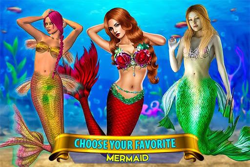 Mermaid Simulator: Underwater & Beach Adventure android2mod screenshots 1