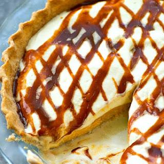 No-Bake Caramel Cheesecake Pumpkin Pie