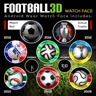 Football 3D World Watch Face- screenshot thumbnail