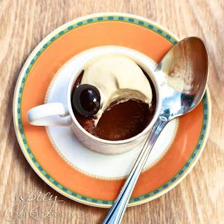 Chocolate Pots de Creme with Espresso Whipped Cream