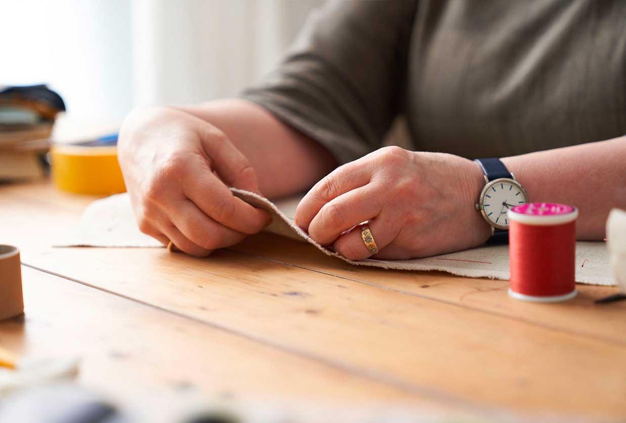 Hands stitching