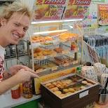 getting snacks in osaka in Osaka, Osaka, Japan