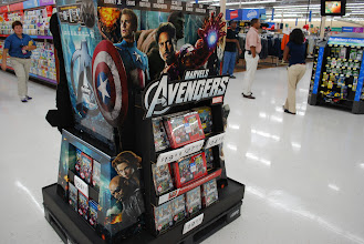Photo: This is the display where you can take a picture with the Superheros.