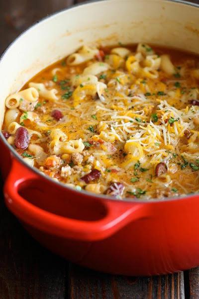 One Pot Chili Mac And Cheese Recipe