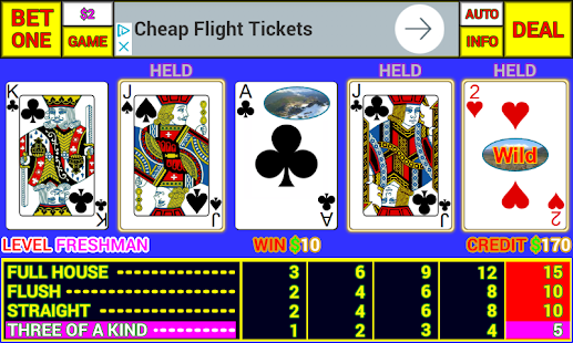 Axblare Video Poker - náhled