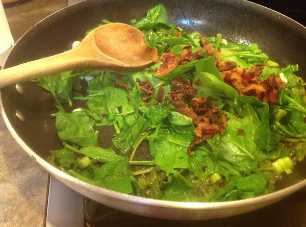 Add the bacon and toss gently to mix. Serve immediately. I made each serving...