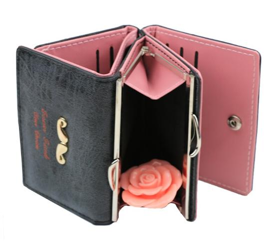 çıtçıt akseuarlı cüzdan