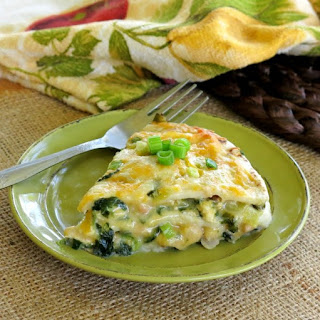Layered Chicken Enchilada Casserole Pie.