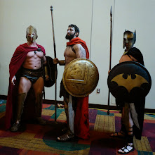 Photo: A collection of Spartans (including a Batman one)